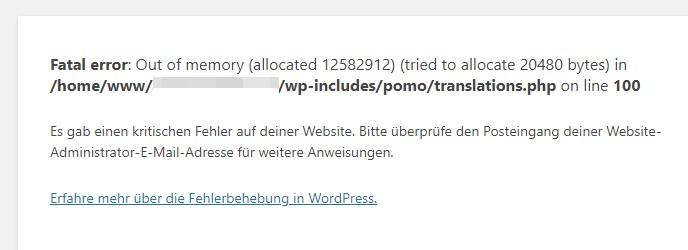Website-Zustand