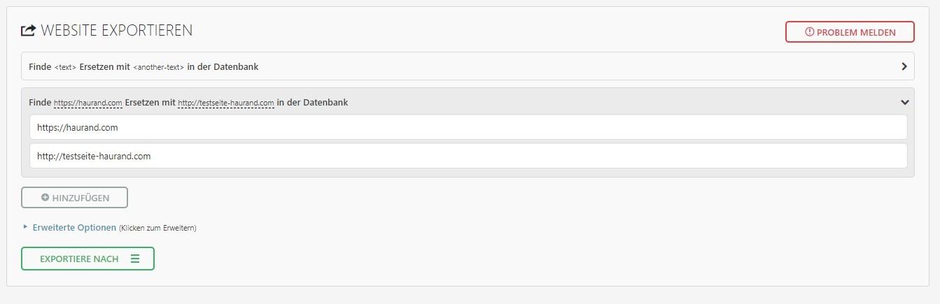 All-in-One WP Migration - WordPress - lokaler Server