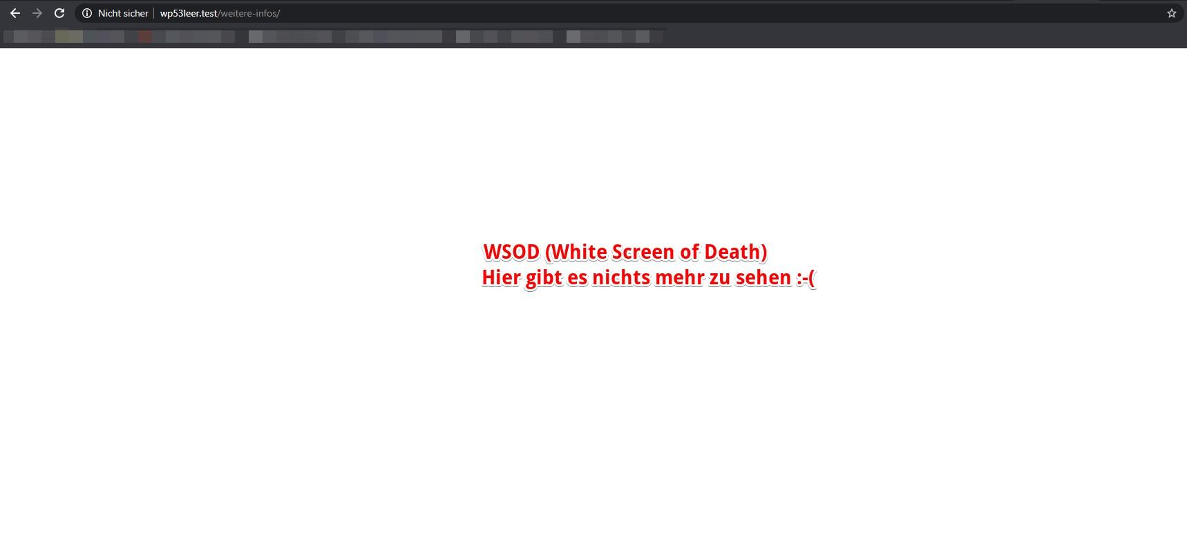 WSOD White Screen of Death