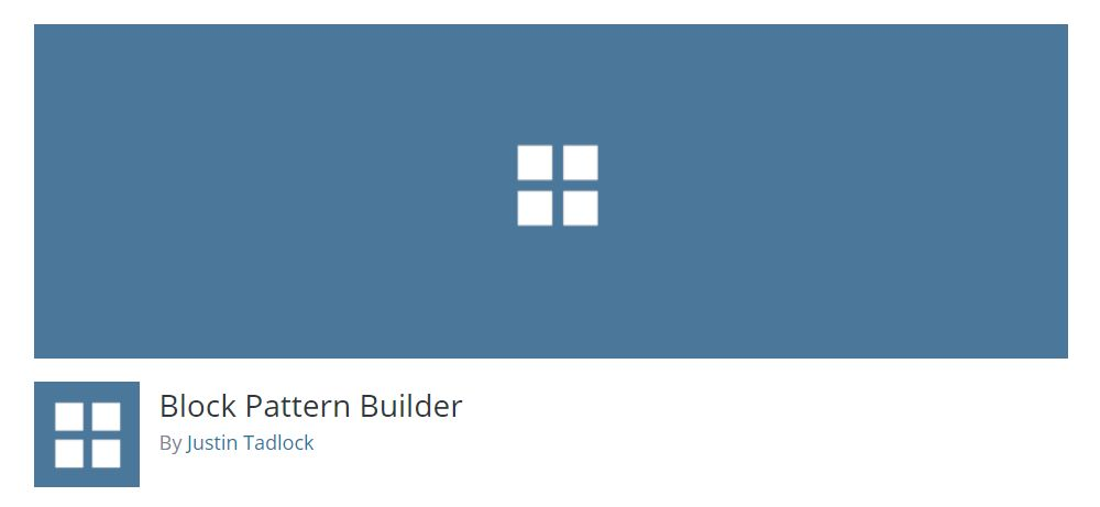 Plugin Block Pattern Builder