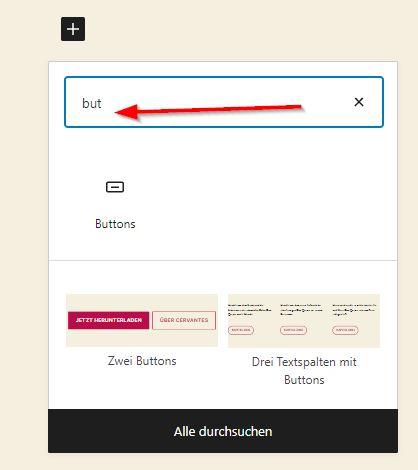 Button mit dem Block-Editor