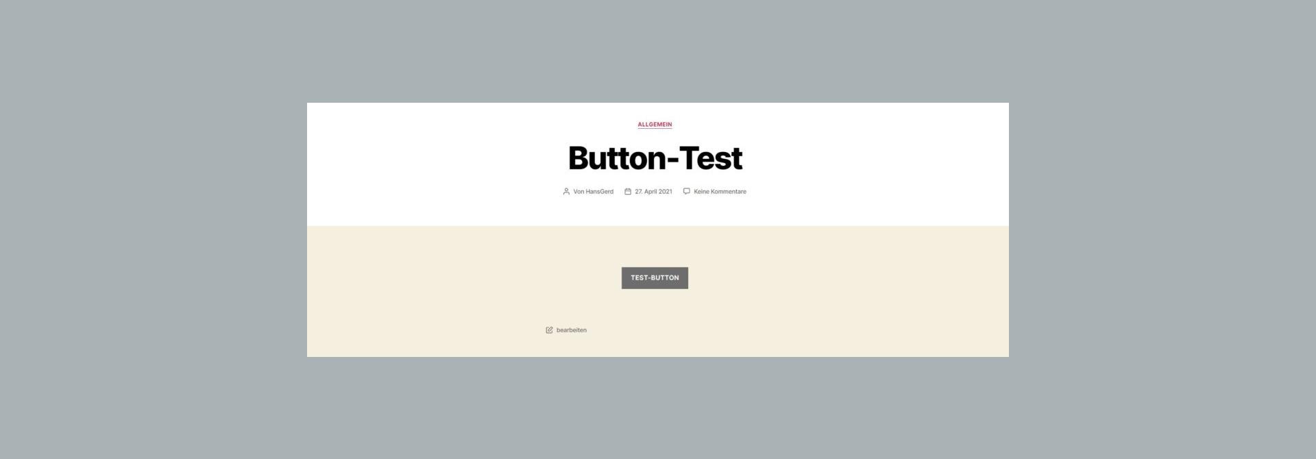 Button mit dem Block-Editor (Gutenberg) erstellen
