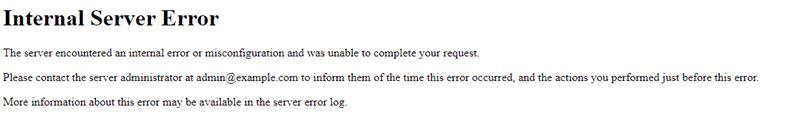 Internal Server Error: Problem in .htaccess