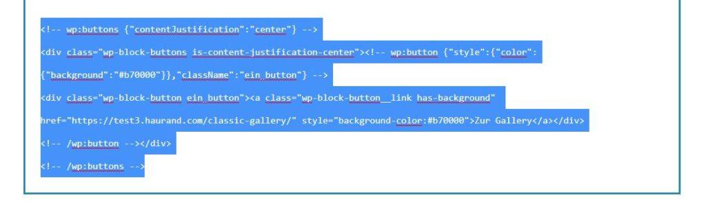 Markierter Code aus dem Code-Editor