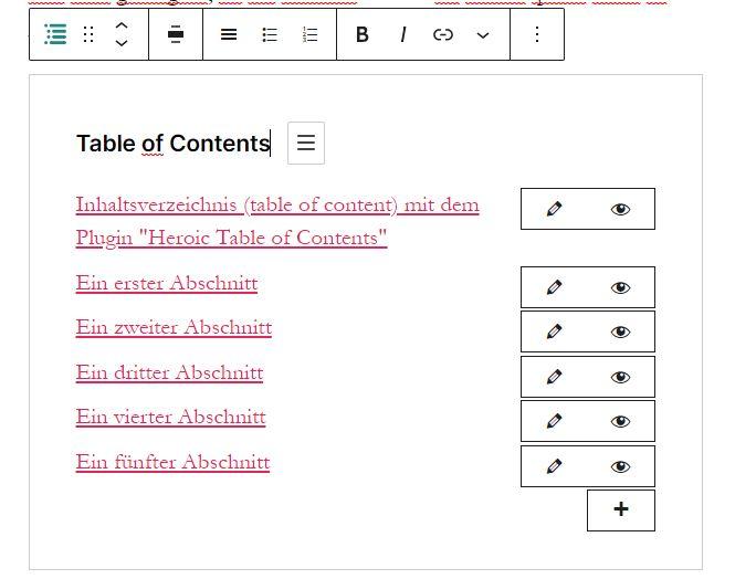 Inhaltsverzeichnis (Table of Contents)