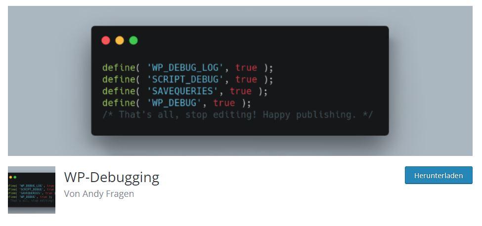 Debug-Modus in der wp-config.php